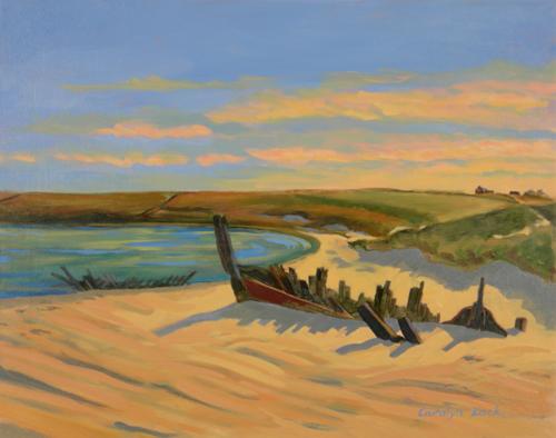 Narragansett Shore at Sundown