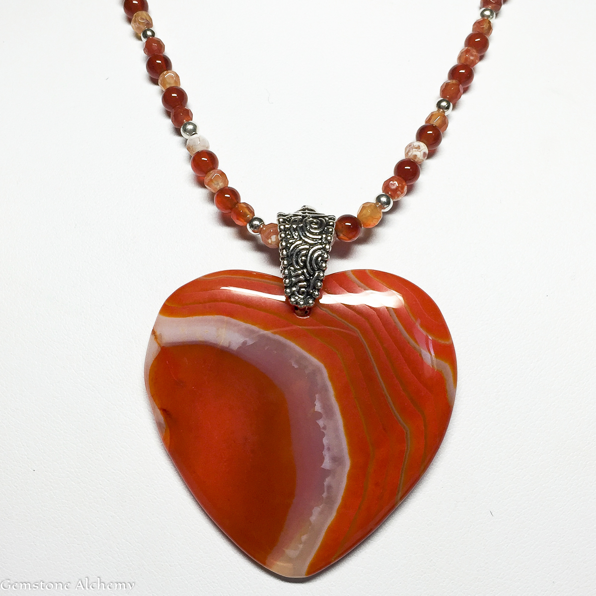 Action Heart Pendant and Beaded Chain over 20% off (large view)