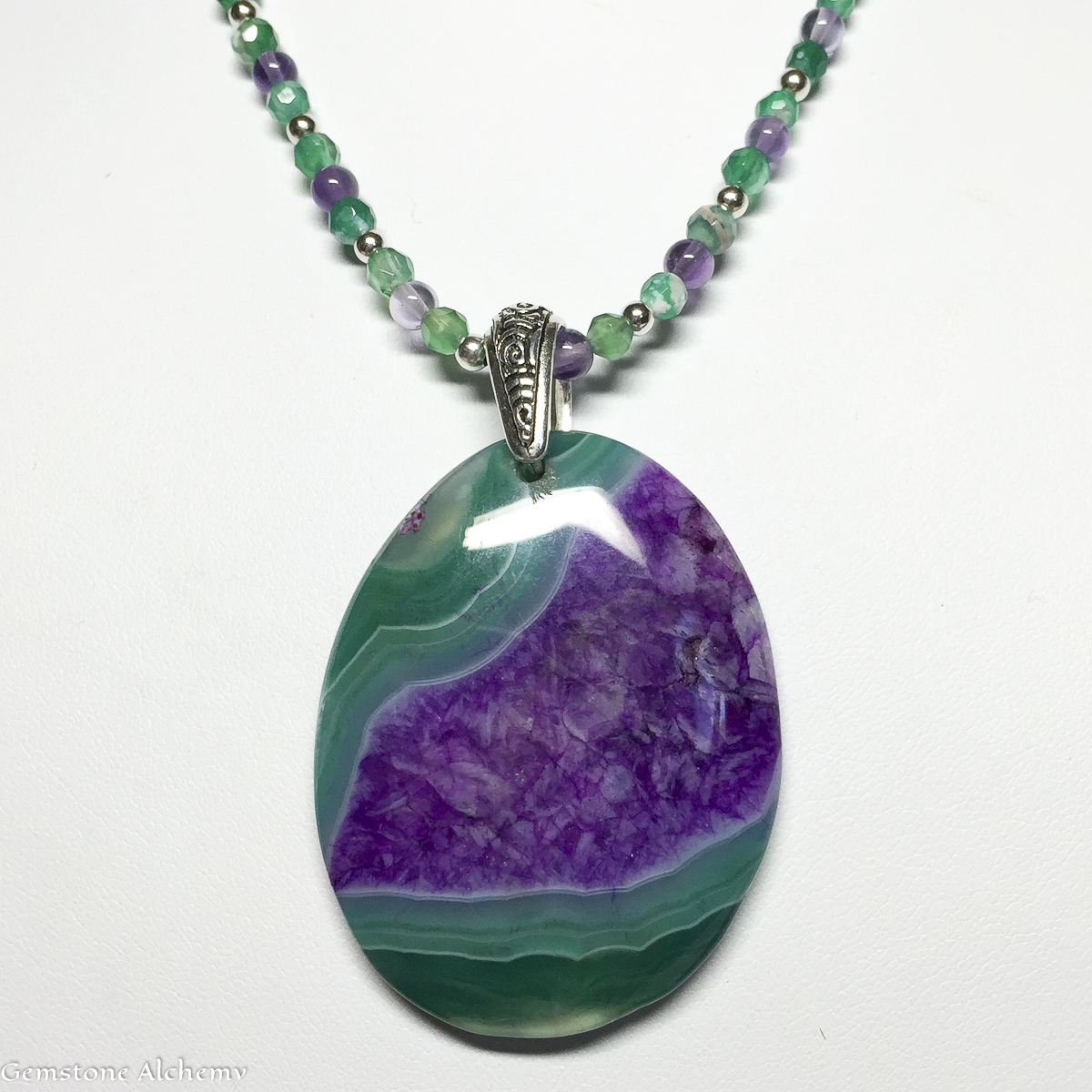 Spirits Heart FlowBeaded chain  & pendant $115 (25 percent off (large view)
