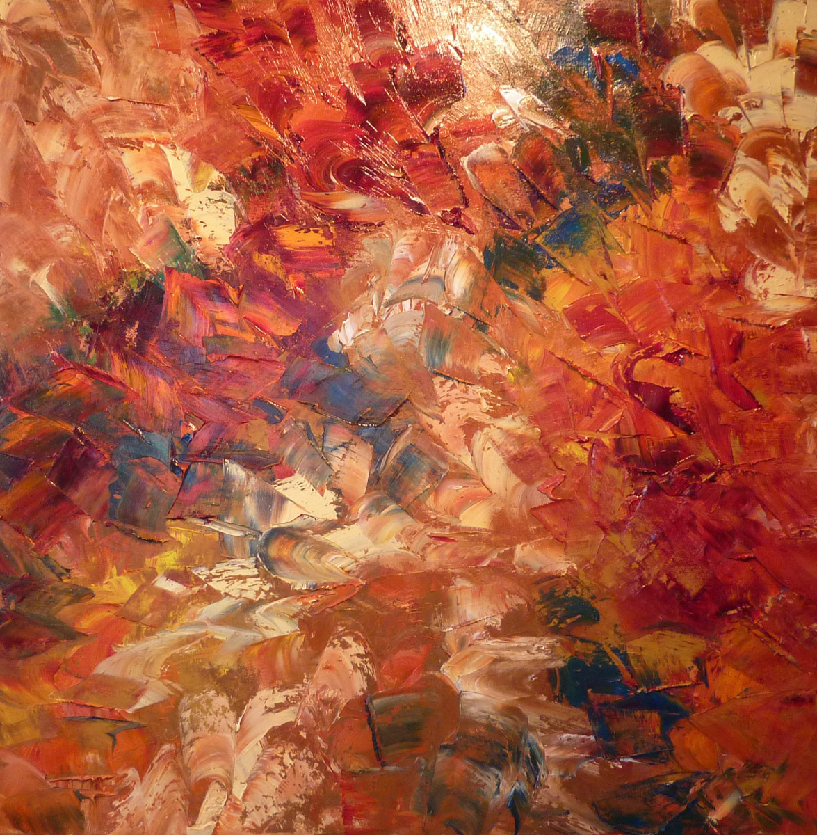 Abstract Oil Paintings War Paint By Caroline Thompson
