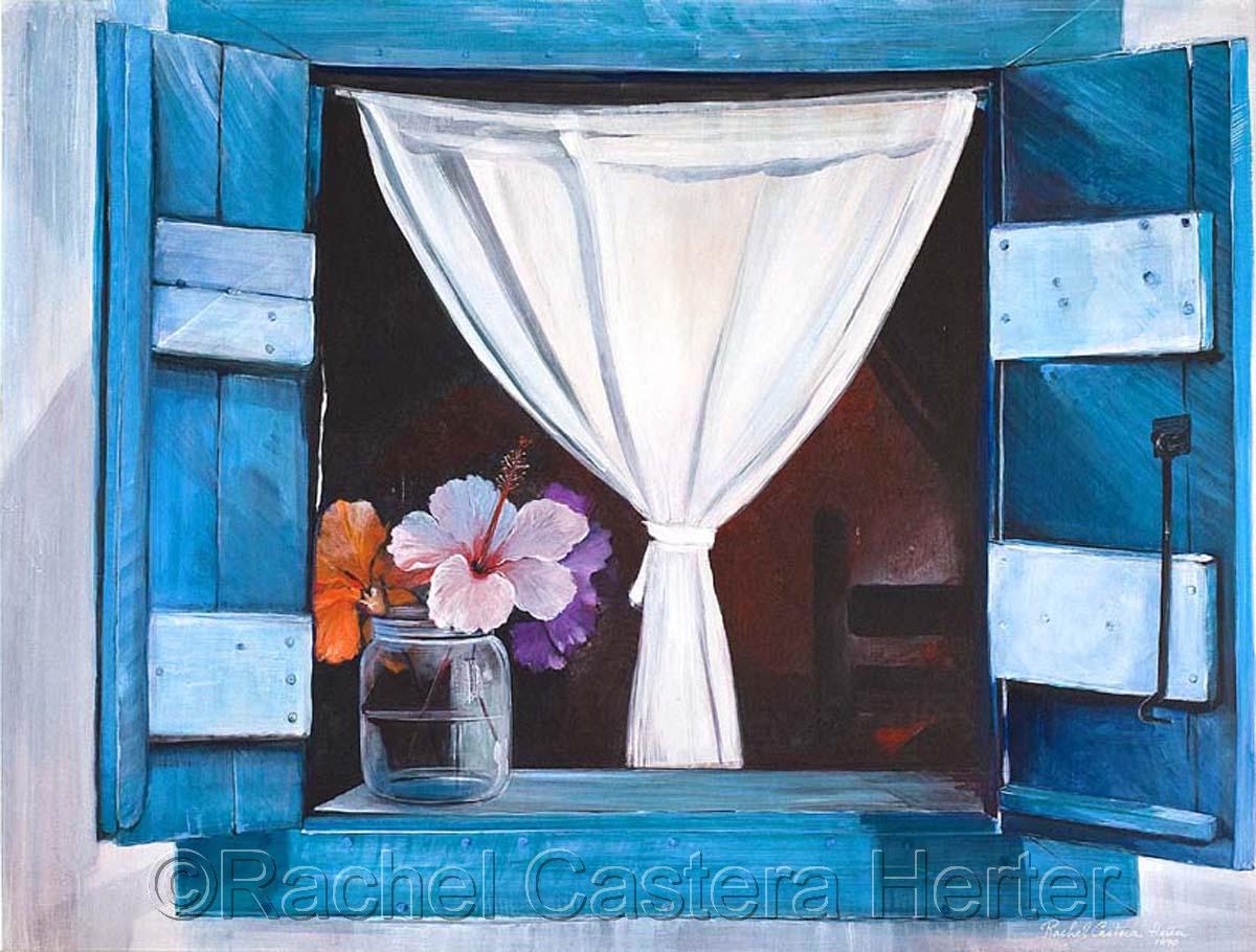 Paintings fenetre ouverte open window by rachel castera for Fenetre ouverte