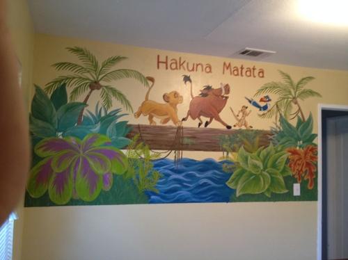 Lion King inspired Mural