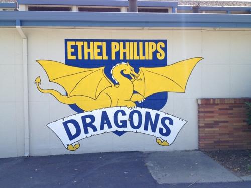 Ethel Phillips Dragon Mural