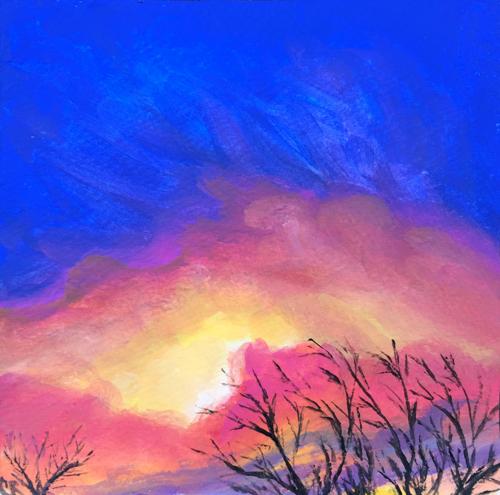 King Fire Sunset