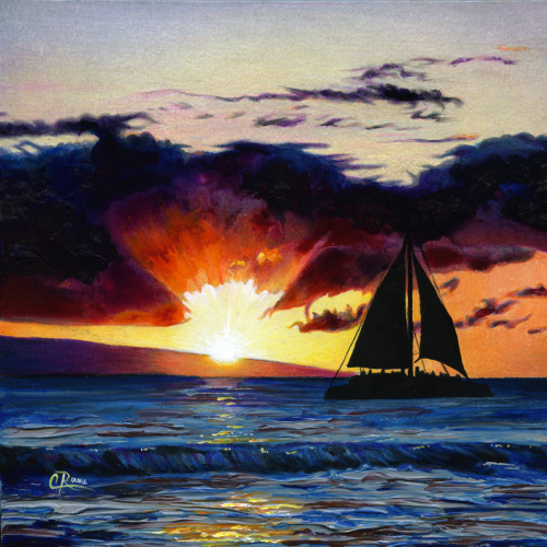 Maui Sail Sunset