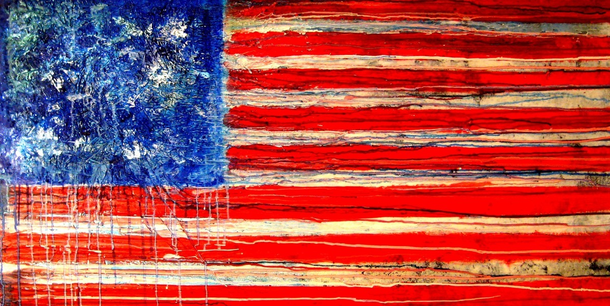 American patriotic flag. old glory (large view)