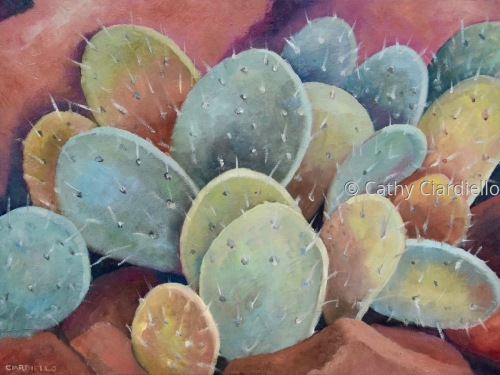 Prickly Pear Cactus by Cathy Ciardiello Fine Art
