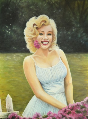 Marilyn in the Garden  by Cristian Cifuentes