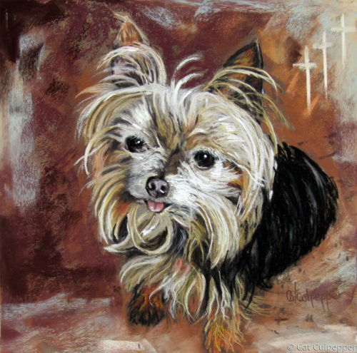 Tyson by Commissioned Pet Portraits Artist Cat Culpepper