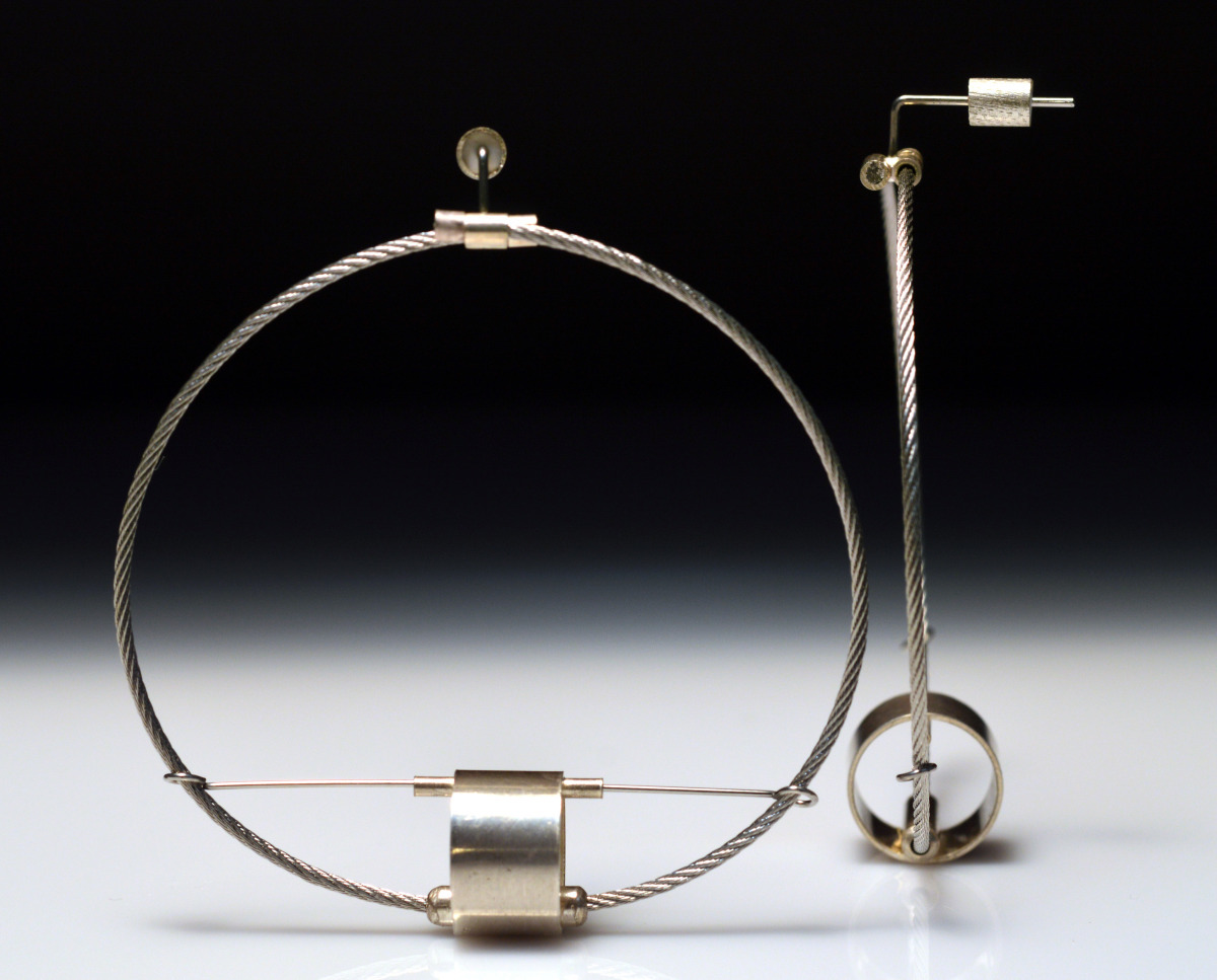 Cable Drum Earrings (large view)