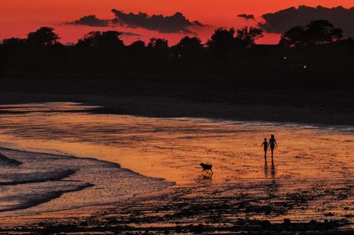 Sunset Walk on Beach