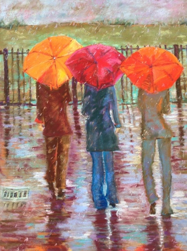 Three Umbrellas by Paintings by Carole Ellis