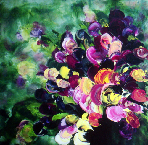 I Love Pansies  24x24