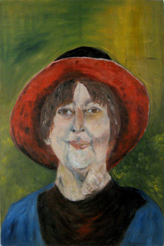 Self Portrait with Red Hat