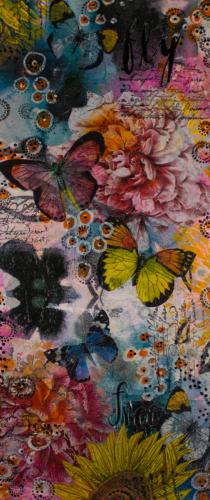 FLY FREE Butterfly Series Panel 1