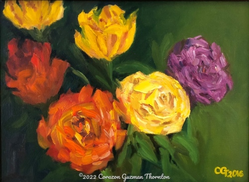 Bouquet of roses by Corazon Guzman Thornton