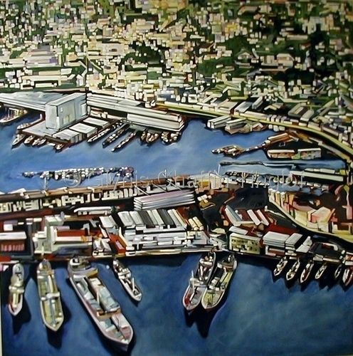Genoa Harbor by Glynis C. Tinglof