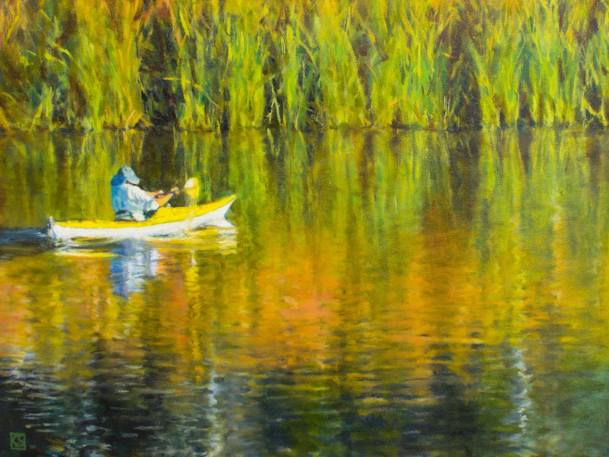 Kayaking Lafayette Reservoir (large view)