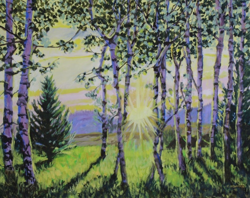 """DAWN THROUGH THE ASPEN GROVE"""