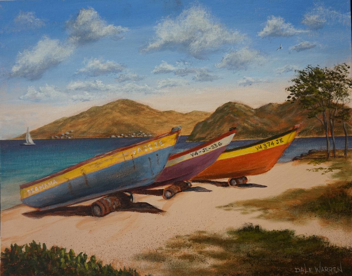 Mango's Paradise Beach - Nevis, West Indies (large view)