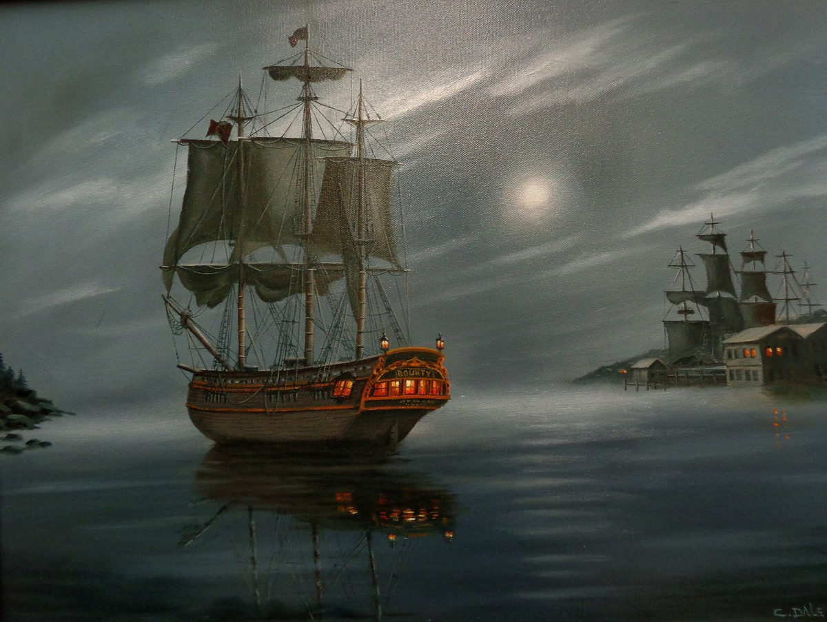 HMS Bounty - Moonlight Mooring (large view)