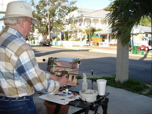 Painting in Key West
