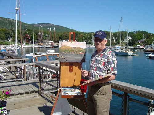 Dale painting on location - Camden Maine