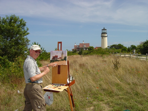 Dale painting on location - Cape Cod