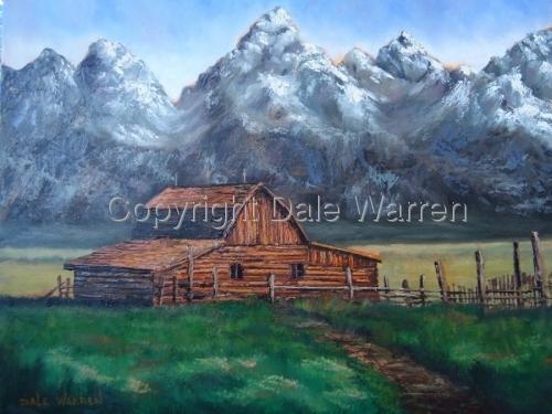 Mountains & Barn