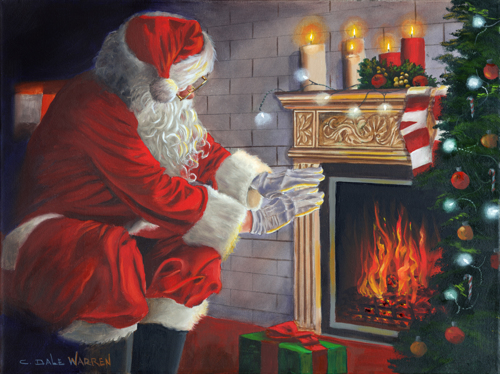 Santa Warming Hands
