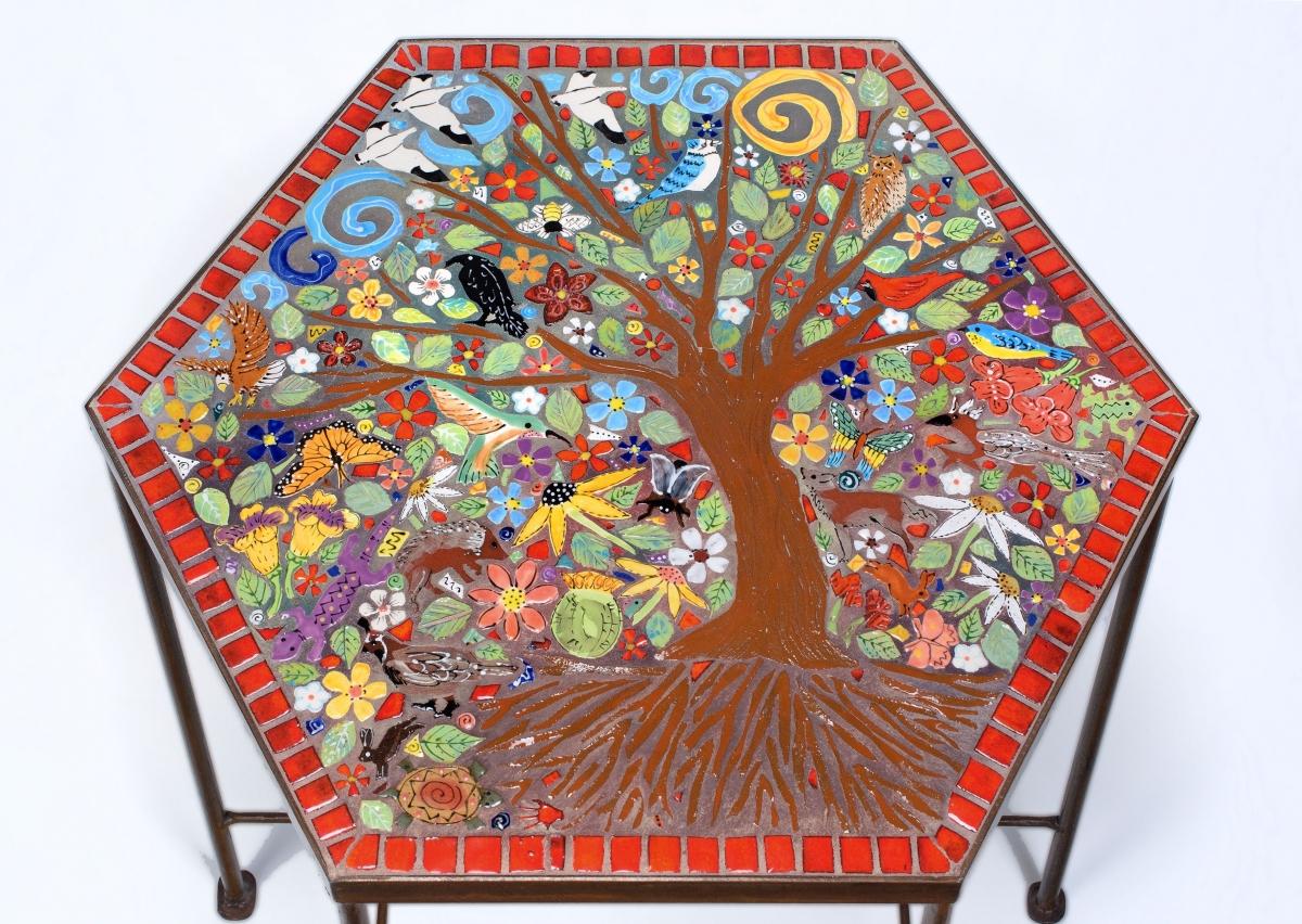 Mosaic Quot Tree Of Life Table Quot Original Art By Carol Hegedus
