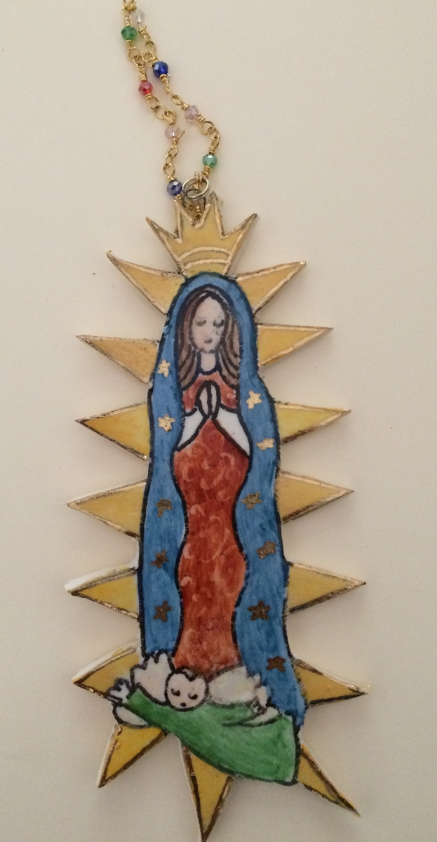 Our Lady of Guadalupe Ornament (large view)