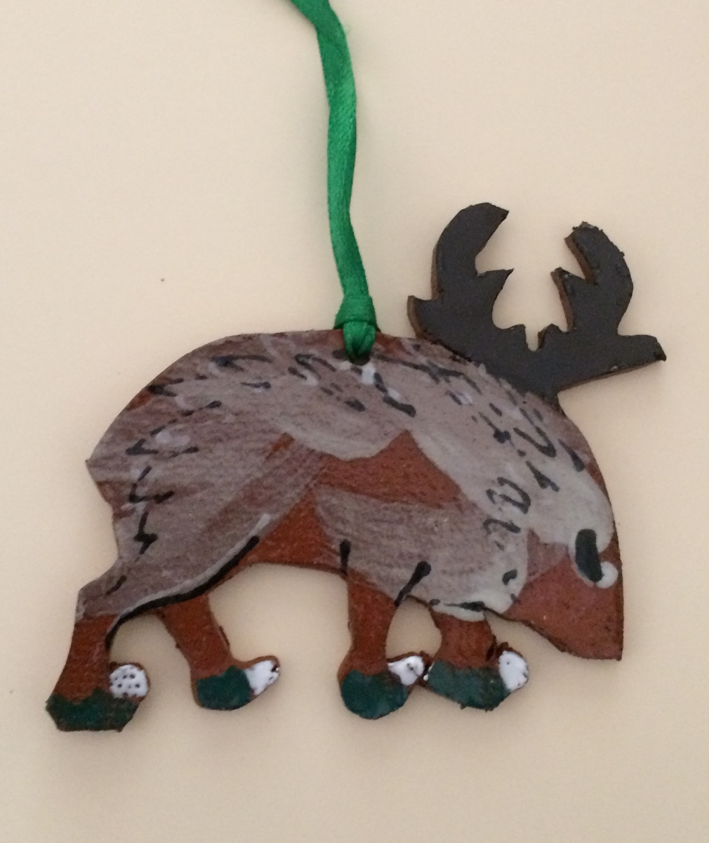 Javelina Ornament (large view)