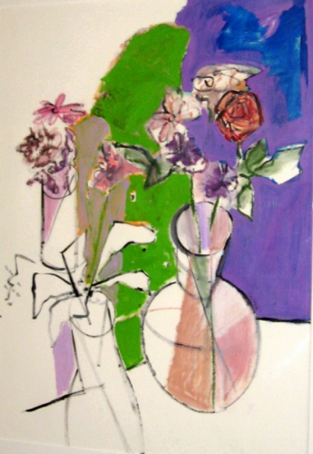 Painting--Oil-BotanicalThe Vases