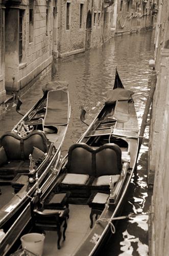 """""""The Two Gondolas""""-Venice"""