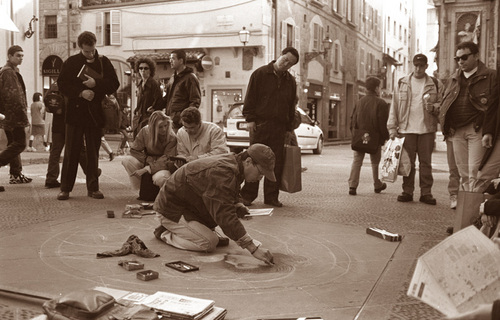 """Street Painter in Florence"""