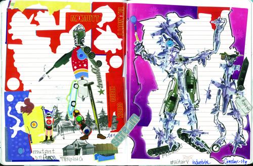 'Mutant Defense', Artist Journal
