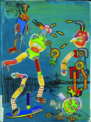 'BotsWar', artist journal page