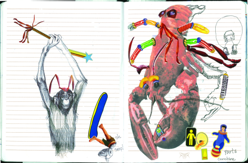 """Lobster Monkey"" journal pages"