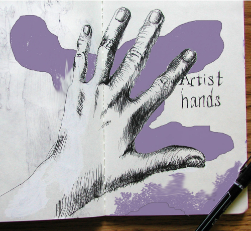 """An Artist's Hands"" with Blotch"