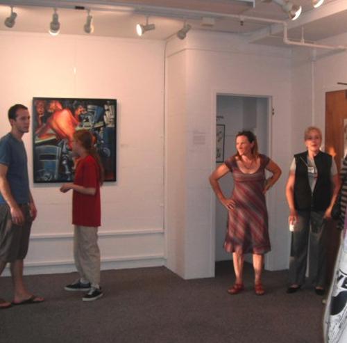 My good MFA Grad friend, Cynthia and I at my artshow.