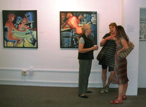 Me, Copper Giloth, Cynthia Poirier at show