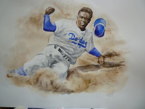 Jackie Robinson by Christopher Breining