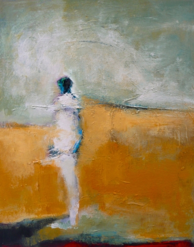 Figure with Yellow by Christine Schwimmer