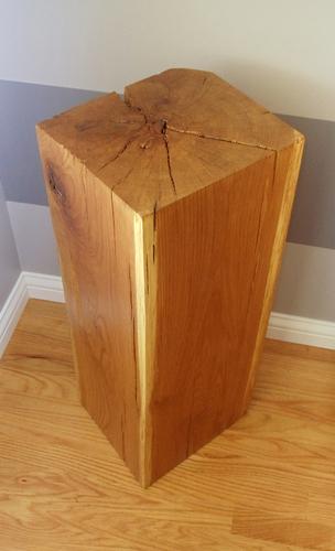 Hand Hewn Oak Pedestal
