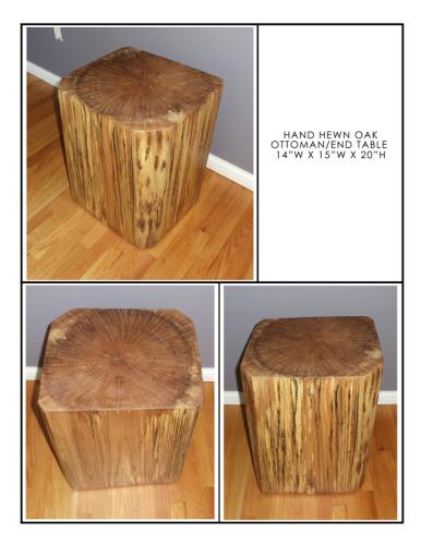 Oak Pedestal II