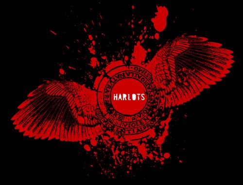 "Harlots ""Bird stamp"" t-shirt design"