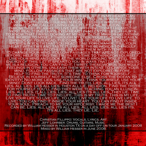 Harlots-Corellia cd single inside