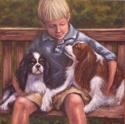 Painting--Oil-AnimalsCavalier Companions