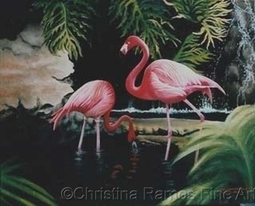 Flamingos (large view)